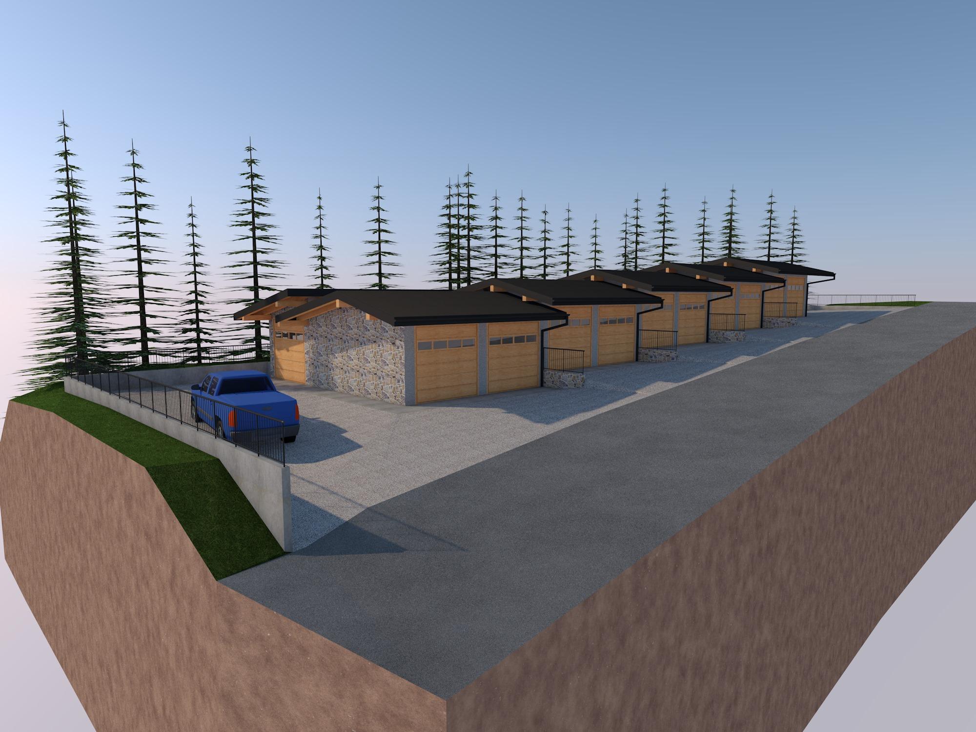 Garage in costruzione